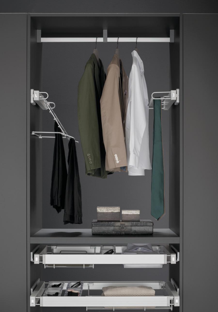 Appendiabiti per cabina armadio vibo accessori in filo metallico per armadi - Appendiabiti per cabina armadio ...