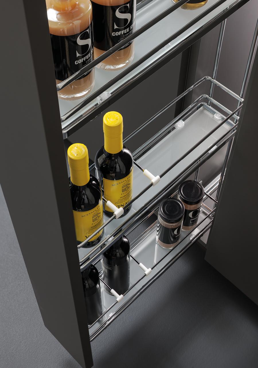 Elementi estraibili per cucina | VIBO accessori in filo metallico ...
