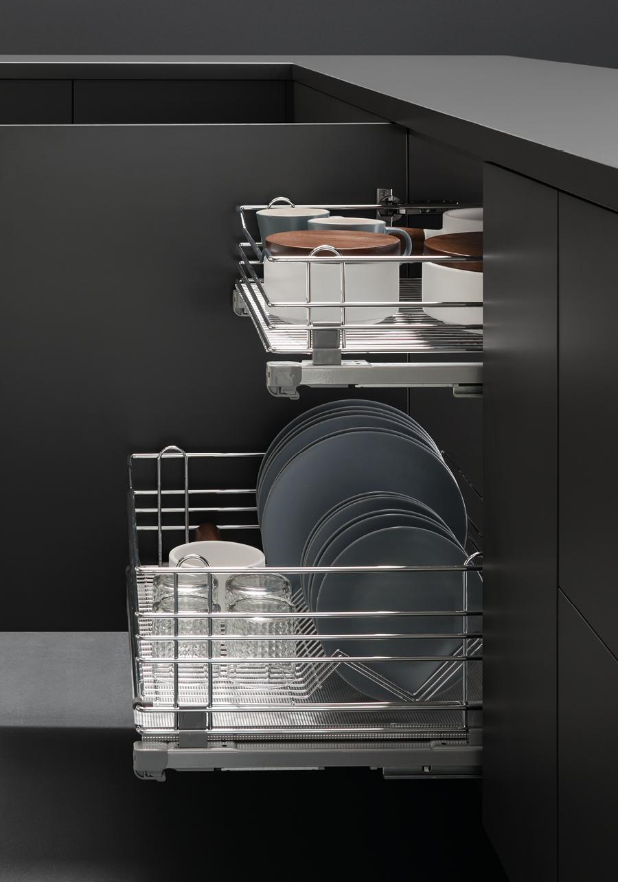 Cassetti per cucina vibo accessori in filo metallico per - Cassetti per cucina ...