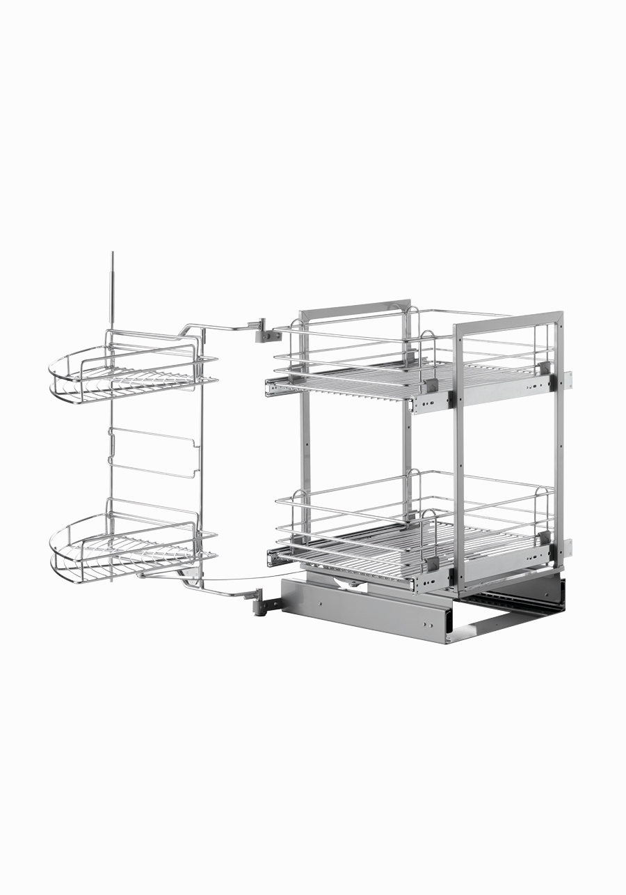 Wire Easy Corner 4 Pull Out Baskets Necgs224545 Vibo